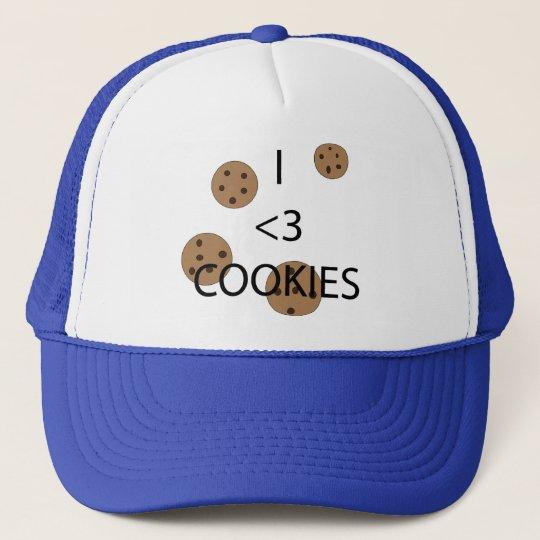 I heart cookies trucker hat