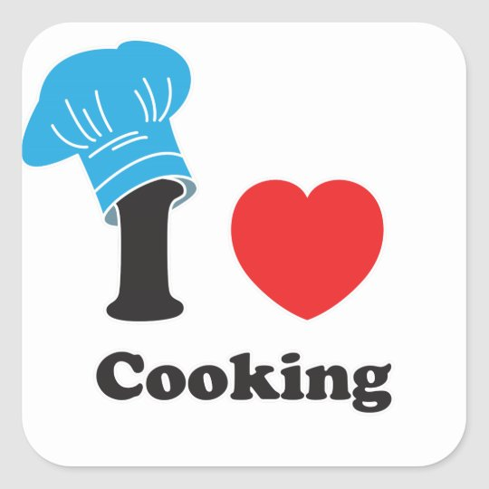 I (Heart) Cooking Square Sticker