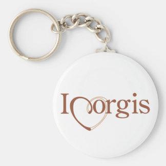 I Heart Corgis Keychains