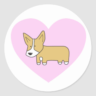 I Heart Corgis Stickers