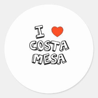 I Heart Costa Mesa Classic Round Sticker