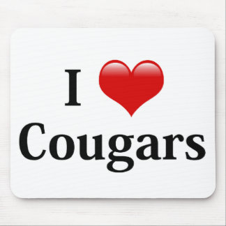 I Heart Cougars Mouse Pad