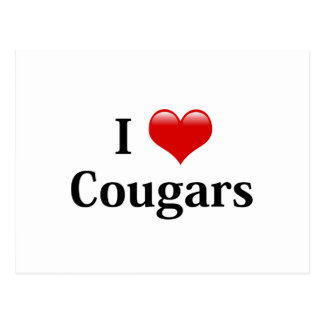 I Heart Cougars Postcard