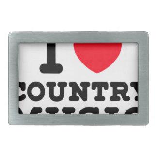 i heart country music rectangular belt buckle