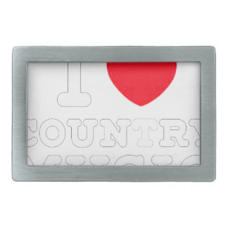 i heart country music w belt buckle