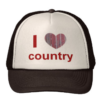 i heart country trucker hat