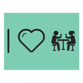 I Heart Couple Drinkers Postcard