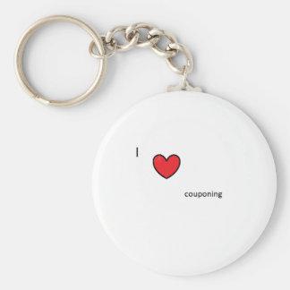 I heart couponing keychains