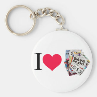 I heart coupons key chains