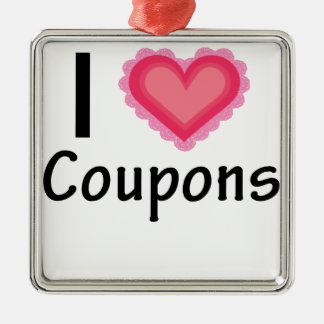 I Heart Coupons Pink Heart.png Metal Ornament