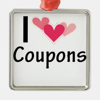 I Heart Coupons Pink Hearts.png Metal Ornament