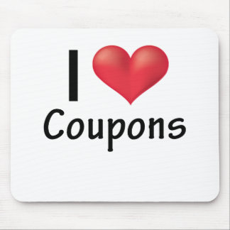 I Heart Coupons.png Mouse Pad