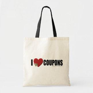 "I ""Heart"" Coupons Tote Bag"
