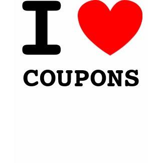 I Heart Coupons shirt