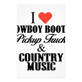 i heart cowboy boots b stationery