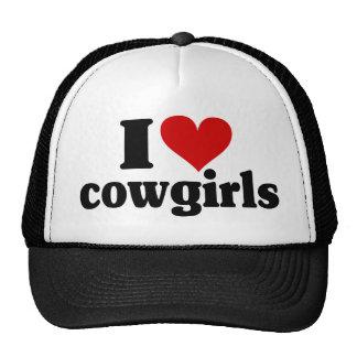 I Heart Cowgirls Trucker Hat