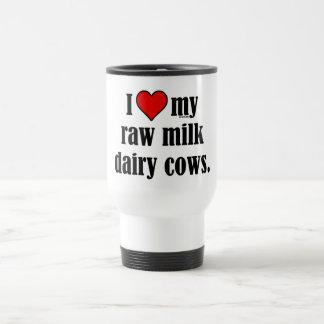 I Heart Cows 15 Oz Stainless Steel Travel Mug