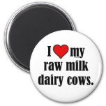 I Heart Cows 2 Inch Round Magnet