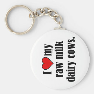 I Heart Cows Basic Round Button Keychain