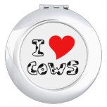I Heart Cows Compact Mirror