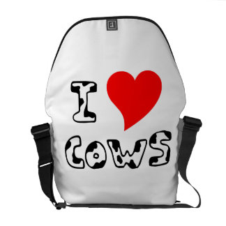 I Heart Cows Courier Bag
