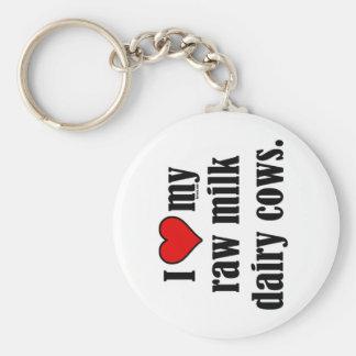 I Heart Cows Keychain
