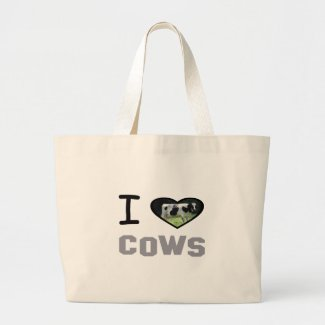 I heart Cows Large Tote Bag