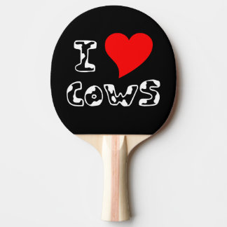 I Heart Cows Ping-Pong Paddle