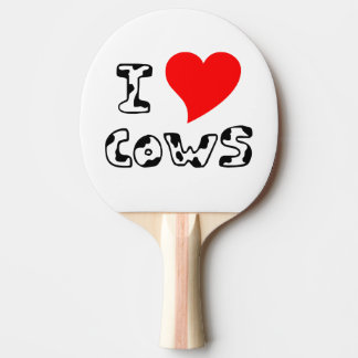 I Heart Cows Ping Pong Paddle