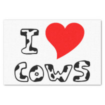 I Heart Cows Tissue Paper