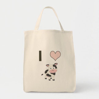 I heart cows tote bag