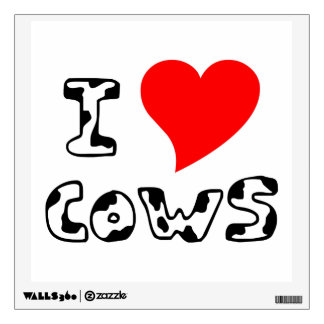 I Heart Cows Wall Decal