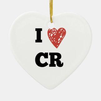 I Heart CR - Cedar Rapids Iowa Ceramic Ornament