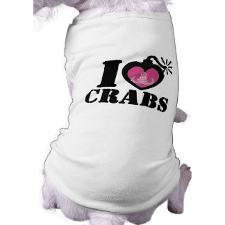 I Heart Crabs for Dog Dog Tee