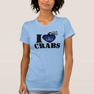I Heart Crabs Tee Shirts