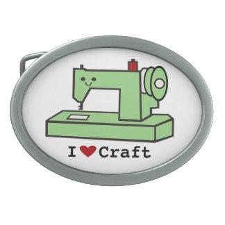 I Heart Craft- Kawaii Sewing Machine-Belt Buckle Oval Belt Buckle