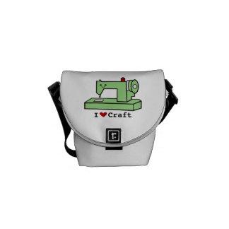 I Heart Craft- Kawaii Sewing Machine-Messanger Bag