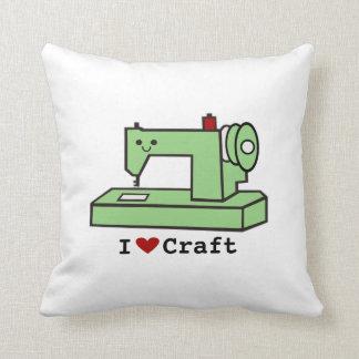 I Heart Craft- Kawaii Sewing Machine Pillow