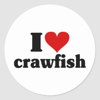 I Heart Crawfish Classic Round Sticker