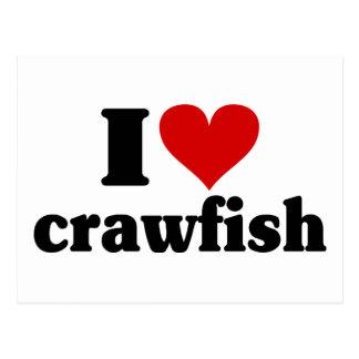I Heart Crawfish Postcard