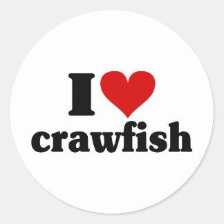 I Heart Crawfish Stickers
