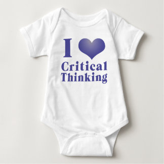 I Heart Critical Thinking Baby Bodysuit