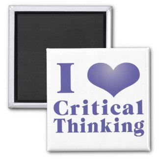 I Heart Critical Thinking Fridge Magnet