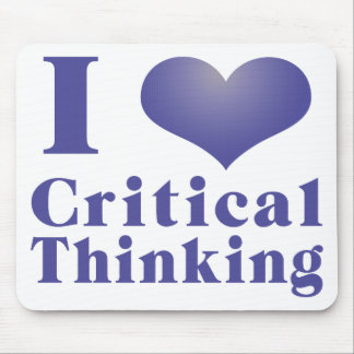 I Heart Critical Thinking Mouse Pads