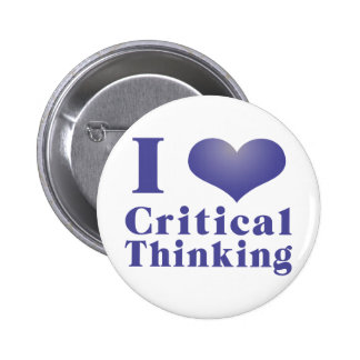 I Heart Critical Thinking Pinback Button
