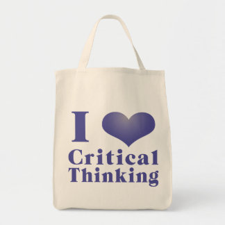 I Heart Critical Thinking Reusable Tote Bags