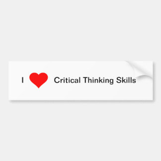 I heart Critical Thinking Skills Bumper Sticker