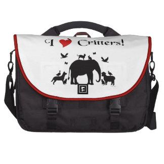 I Heart Critters Commuter Laptop Bag