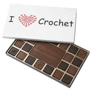 I Heart Crochet -Heart Crochet Chart Pattern 45 Piece Box Of Chocolates