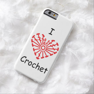 I Heart Crochet -Heart Crochet Chart Pattern Barely There iPhone 6 Case